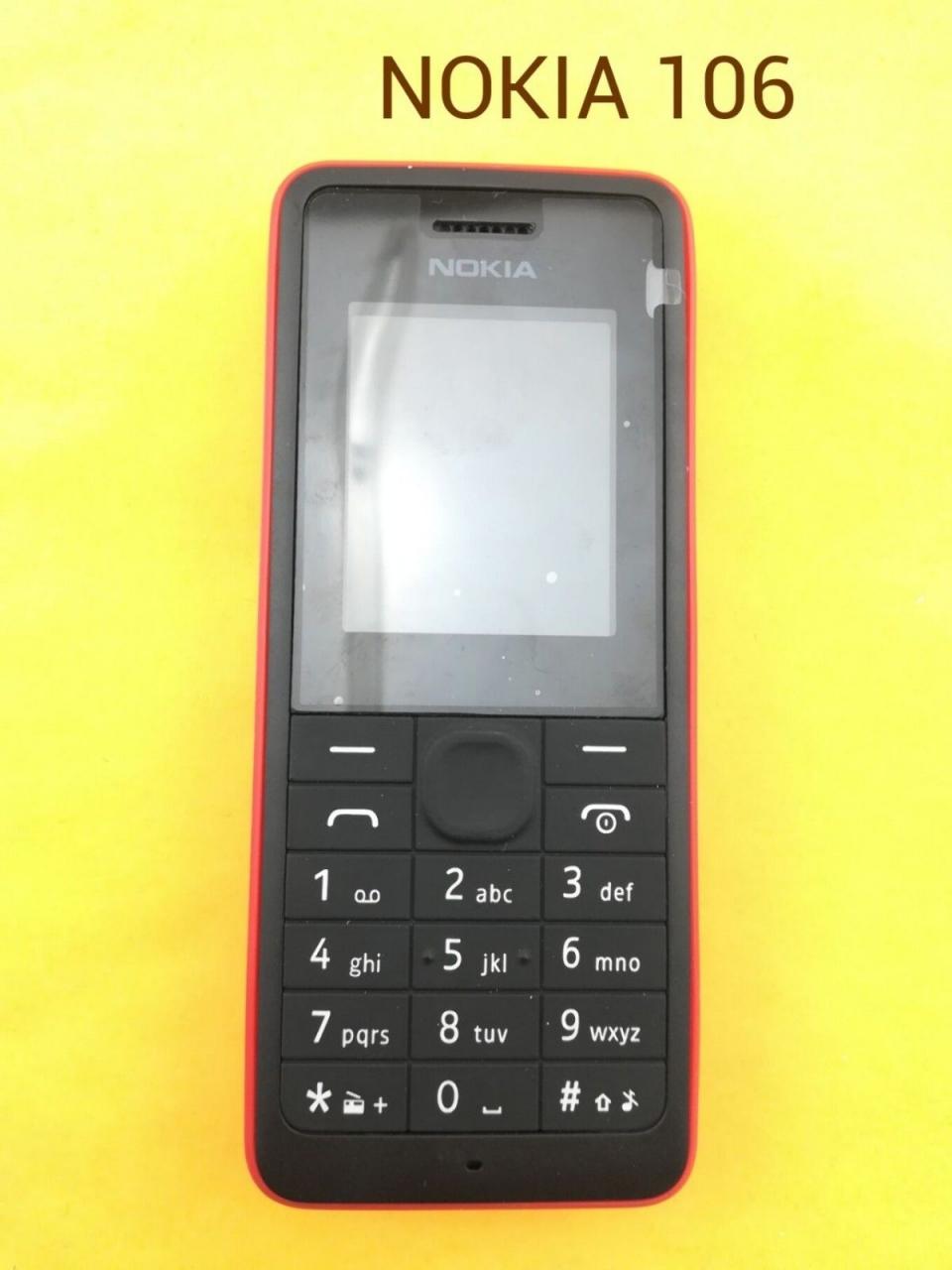 new Nokia 106 Unlocked Simple Mobile Phone Multiple keyboards languages white 6