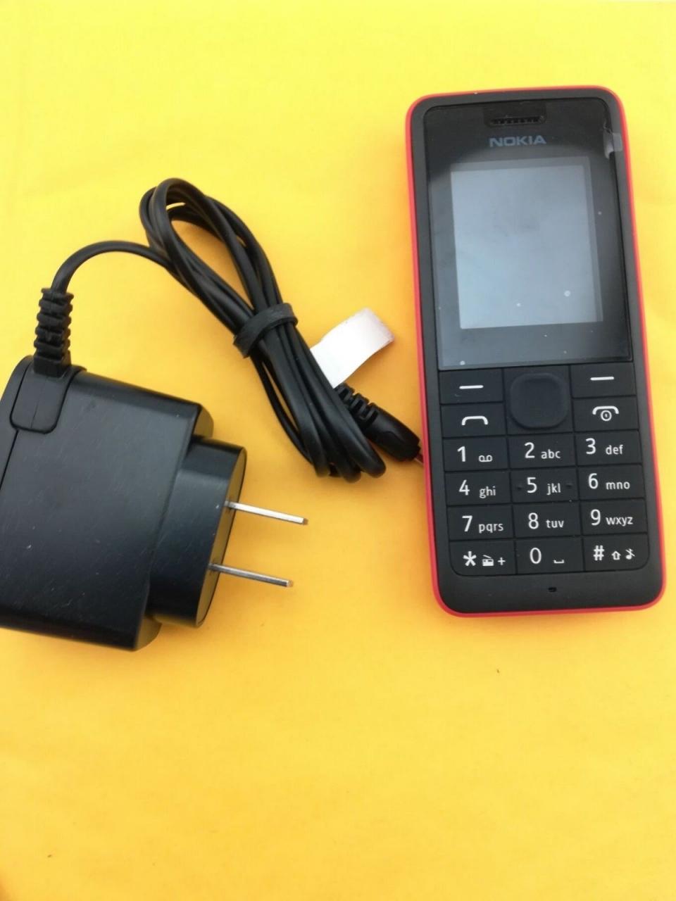 new Nokia 106 Unlocked Simple Mobile Phone Multiple keyboards languages white 8