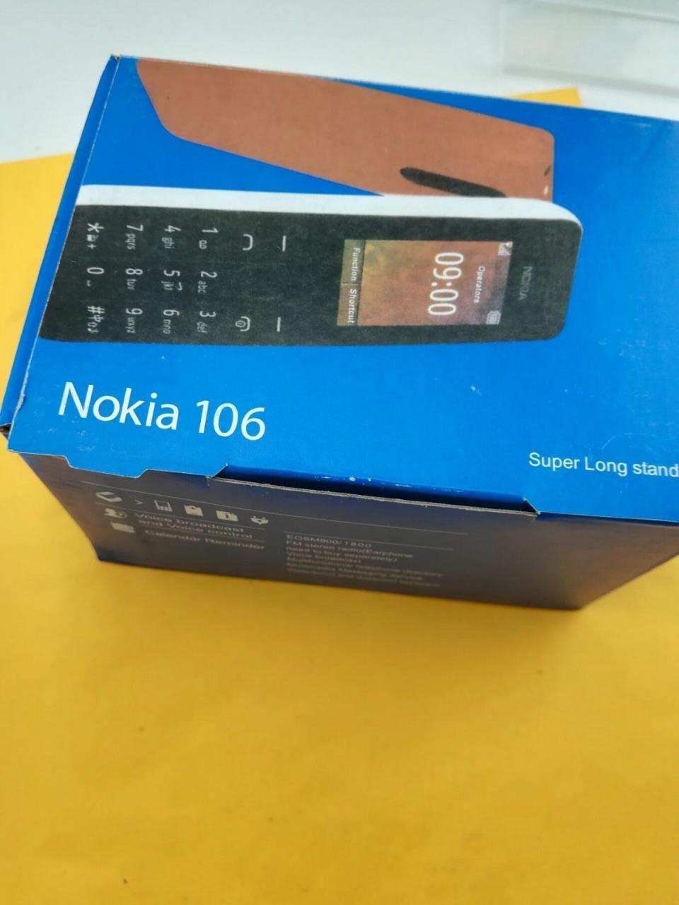 new Nokia 106 Unlocked Simple Mobile Phone Multiple keyboards languages white 11