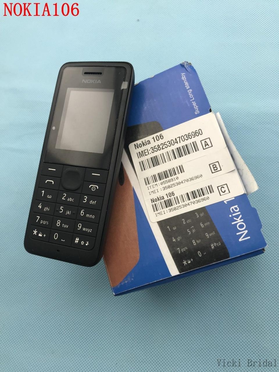 new Nokia 106 Unlocked Simple Mobile Phone Multiple keyboards languages white 12