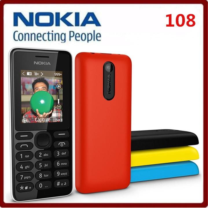 Brand New Nokia 108 Dual Sim Unlocked Gsm Fm camera Mobile Phone red 1