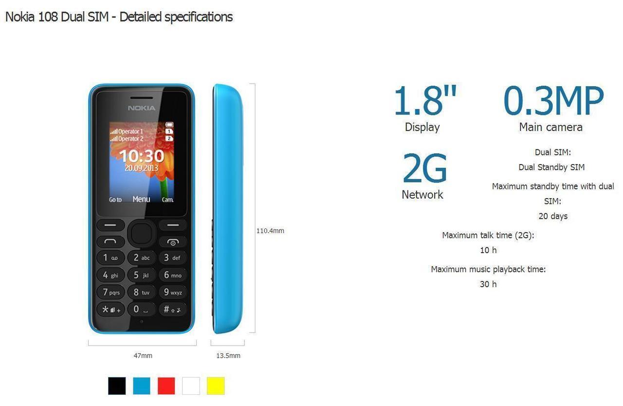 Brand New Nokia 108 Dual Sim Unlocked Gsm Fm camera Mobile Phone red 4
