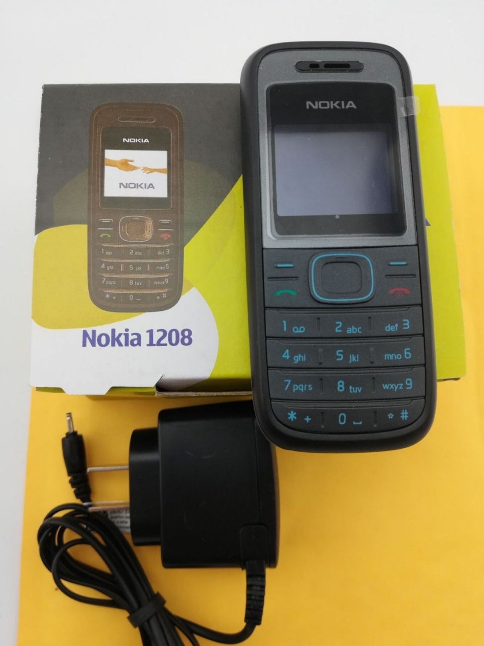 Refurbished phone Original Cellular Nokia 1208 Cheap phones GSM unlocked phone red 10
