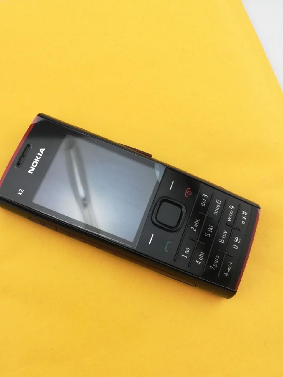 Refurbished phone Nokia X2-00 Bluetooth FM JAVA 5MP Cell Phones Free Shipping black 9