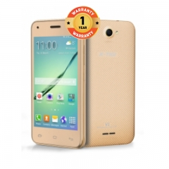 "X-TIGI V2 Smartphone-4.0"" WVGA , Dual SIM, 2MP+5MP Dual Flash Camera, 512MB RAM+8GB Storage, 2600mAh Gold"