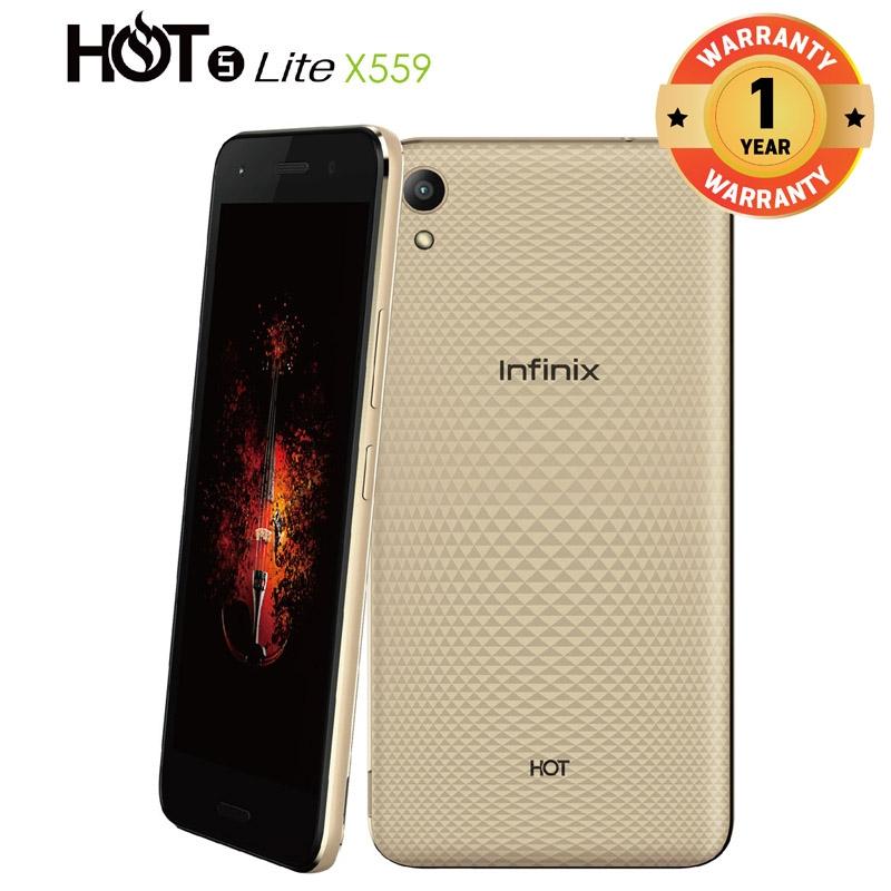 INFINIX HOT 5 Lite X559, 5 5 In 16+1GB, 8+5MP, Dual Speaker 3D Stereo  Surrounding 4000mAH SmartPhone Gold