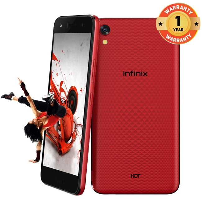 INFINIX HOT 5 Lite X559, 5.5 In 16+1GB, 8+5MP, Dual Speaker 3D Stereo Surrounding 4000mAH SmartPhone Red