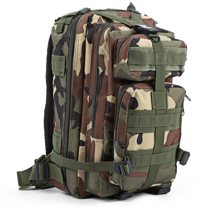 09220a7d14b7 3P Tactical Military Backpack Oxford Outdoor Sport Bag for Camping  Traveling Hiking Trekking 30L Woodland 30L