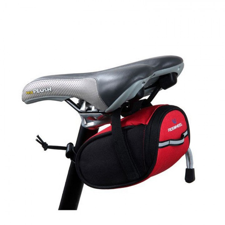 Roswheel Cycling Rear Bags MTB Bike Bicycle Saddle Bag Back Seat Tail Pouch Package Reflective Red