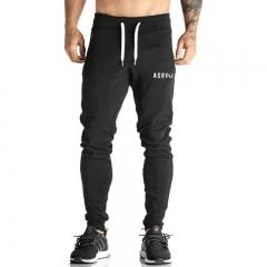 2018 Men's Running Joggers Pants Men Cotton Casual Gym Fitness Sport Elastic Sweatpants Trousers black m