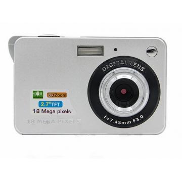 MUETY 18 million pixels home digital camera children macro camera gift card camera silver one size