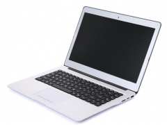 MUETY 14.1 inch laptop Dual Core Aluminum alloy material HDD laptop computer silver one size