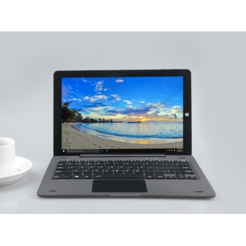MUETY 10.1 inch Intel Atom Z8350 with keyboard 2in1 notebook Laptop wifi Notebook 4GB 64GB black one size