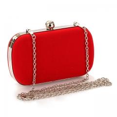 2017 New Designers Velour Women Handbag Mini Clutch Bag Wedding Party Socialite Banquet Evening Bag Red One Size