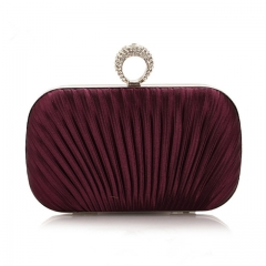 2017 Women Elegant Evening Clutch Purse Bags For Party Wedding Bags Chain Handbags Shoulder Bags Purple One size
