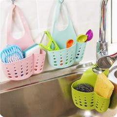 Kitchen Portable Hanging Drain Bag Bath Storage Gadget Sink Holder Soap Holder Rack Kitchen Tools Green 20*8.3*12 cm
