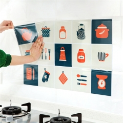 2017 Removable DIY Kitchen Decor House Decals Aluminum Foil Wall Sticker Aug 17 1 75*45cm