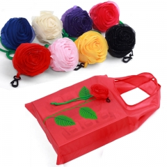 Hot Multi-color Rose Flower Reusable Shopping Bags Eco Bags Foldable Shopping Travel Grocery Bag Random 20pcs