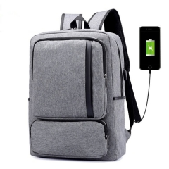 Backpack for 15-16 inches USB Charging Men's Large  Travel Bag for Teenagers Waterproof Backpack Grey 16 inches