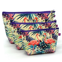 Cosmetic Bag Makeup Bags Three Pieces Waterproof Professional Toiletry Kit Wash Necessaire Travel B
