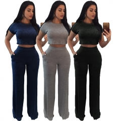 2 Pieces Sets Femme Hiver Crop Tops Women Sets Clothes Tracksuit Cotton Two Piece Set Skirt Top Gary S