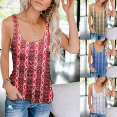 2019 Summer Tank Top Women Snake Skin Spandex Elastic Beach Casual Holiday Tops Female Yellow S