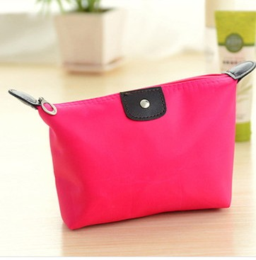 Women Large Volume Waterproof Makeup Bag  Pencil Cases Bags Purse Organizing Hand Bag ROSE RED