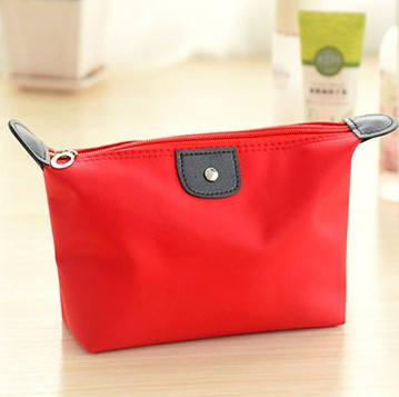 Women Large Volume Waterproof Makeup Bag  Pencil Cases Bags Purse Organizing Hand Bag RED