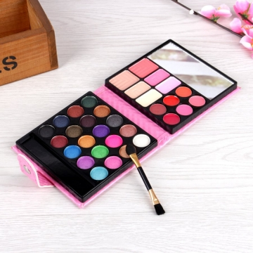 Makeup Eyeshadow Palette 32 colors  Eye Shadow Make Up Shadows With Case Cosmetics pink