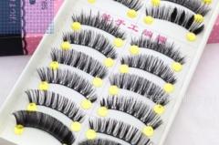 Fashion 10 Pairs Wispy Thicken Mix Handmade Natural False Eyelashes Long Fake Lashes as picture