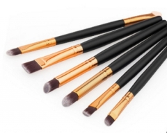 6 Pcs Professional Makeup Brushes Set Wood Tools Cosmetics Foundation Face Eyeshadows Brush Kit black