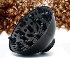 1PCS  Universal Hairdressing Salon Hair Dryer Diffuser Curly Hair Blow Blower Tool Wholesale black as picture
