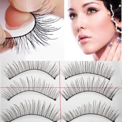 10 Pairs New False Eyelashes Handmade Black Long Thick Natural Fake Eye Lashes as picture