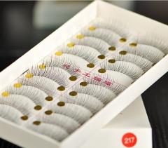 GOOD Transparent stalk Crisscross  false eyelashes as handmade fake eyelashes artificial eyelashes transparent