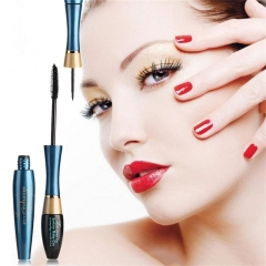 Mascara  3D Fiber Lashes Rimel Mascara Makeup  Waterproof Eyeliner as picture