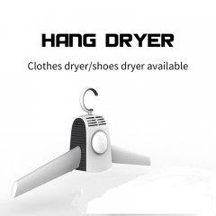 Electric  Clothes Airer Portable Home Hang Clothes Dryer Shoes Dryer Clothes hanger for Travel white 42*6.9*20