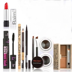 6pc Makeup   Party Gift Gel Eyeliner Eye Liner Pen Eyebrow Pencil Lipstick Eyebrow Powder Mascara as picture