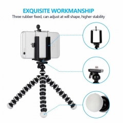 Small Octopus Flexible Digital Camera Stand Monopod Cell Phone Holder radom 15*3.5*3.5