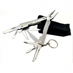 9 in 1 Outdoor Camping Survival Travel Stainless Steel Multifunctional Portable Multitool Folding as picture 8*3*1.2