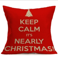 Pillowcase Christmas Decorations For Home Tree Cotton Linen Cushion Cover Set Red Pillow Case 4 45×45