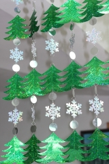 DIY sequined curtains Christmas drop ornaments festive decorations supplies Christmas tree green 500cm