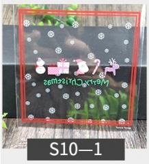 20pcs/lots gift bags Christmas Cookie bake biscuits plastic bag packaging wedding gift holders 10-1 10cm*10cm
