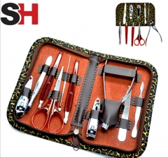 Man Women Manicure Set 10 in1 Nail Clipper Earpick Grooming Pedicure kit Selling as picture as picture