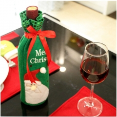 Christmas decorate wine bot Bag Dinner Party decorate wine bottles Snowman Christmas Tree 2 30*12.5