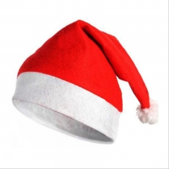 Santa Christmas Hats Cloth Cap Universal for Adult Child Xmas Festival Decoration Party Supplies as picture 15*10*5