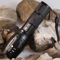 T6 3800LM Aluminum Waterproof Zoomable CREE LED Flashlight Torch light black as picture as picture