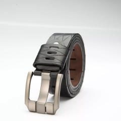 NATA-22 Casual Mens Leather Belts Automatic Belt Buckle black 3.8*130