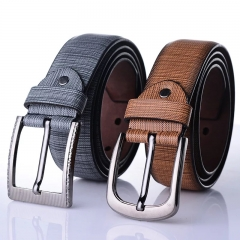 NATA-03 High Quality Cow Men Leather Embossed Belts For Man Strap Male black 3.8*130