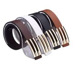 NATA-07 Men Leather Waist Strap Belts Buckle Belt belts luxury brand brown 3.8*130