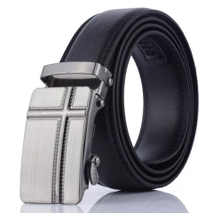 NATA-17 Valentine's Gift Casual Mens Leather Belts Automatic Belt Buckle black 3.8*120